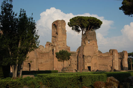 What Materials Were Used To Build The Baths Of Caracalla